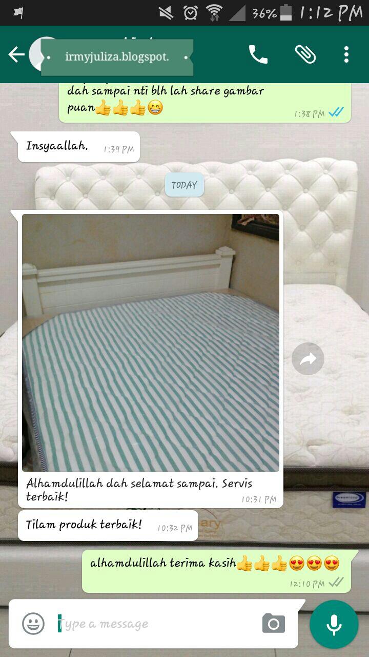 Jom Tgk Gambar Kiriman Customer Dari Puchong Tilam Hotel Pos Chirotel 9 5 Saiz Super Single Alhamdulillah Dah Sampai Yeay