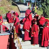2015年11月20日尊貴的 蔣貢康楚仁波切帶領拉瓦噶舉德千林寺祖古、堪布、洛本及立佩多傑佛學院的學生進行解脫莊嚴寶論研討會第三天(2015年11月18日~ 23日)