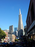 At Columbus & Broadway, the view of the Transamerica building is pretty awesome