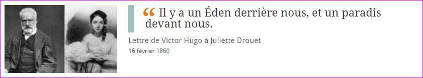 Victor Hugo et Juliette Drouet