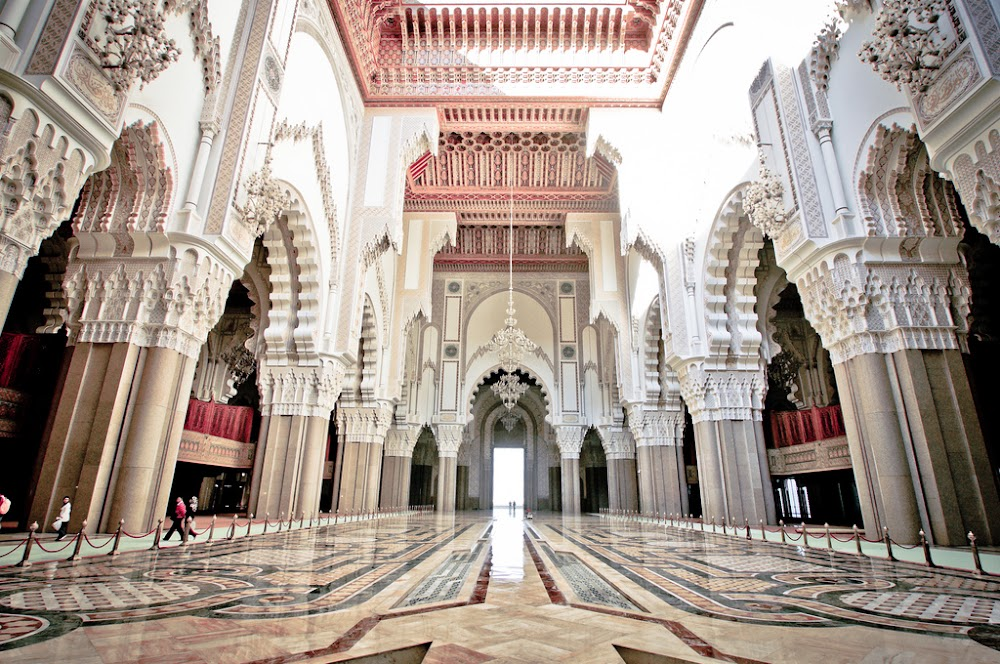 king hassan ii mosque in casablanca morocco
