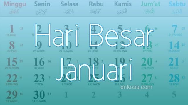 Daftar Hari Besar Januari