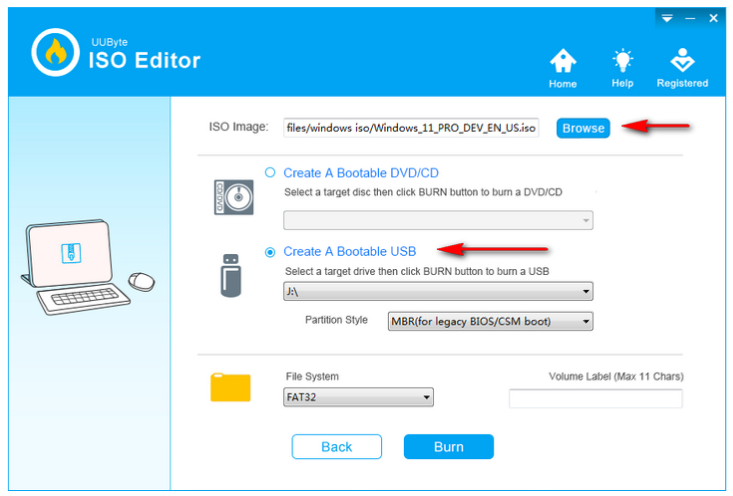 Choose ISO File and click continue