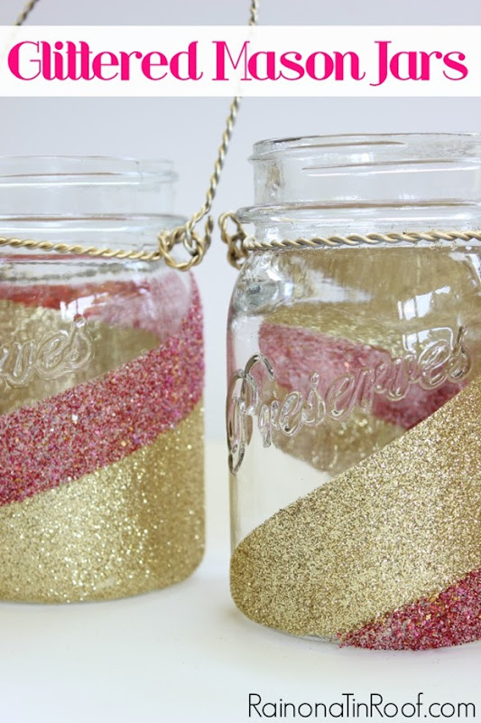 glitter-mason-jars