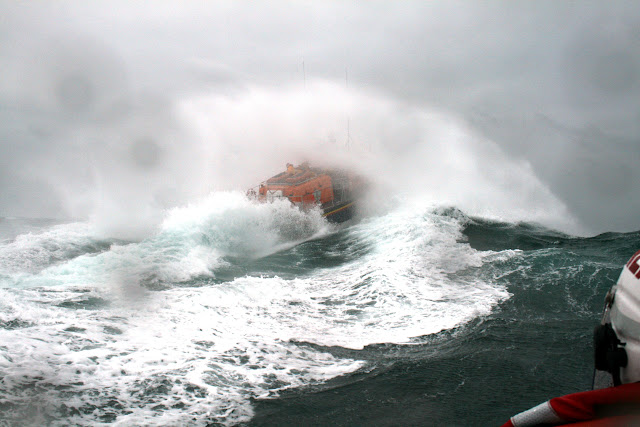 12 June 2011 - Going ... ALB during exercise in rough weather (southerly force 7, gusting 8, heavy rain, 4.5m seas). (Photo credit: Rob Inett)