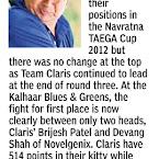 Navratna TAEGA Cup 2012 - Media Coverage