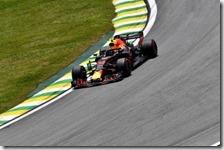 Max Verstappen nelle prove libere del gran premio del Brasile 2018