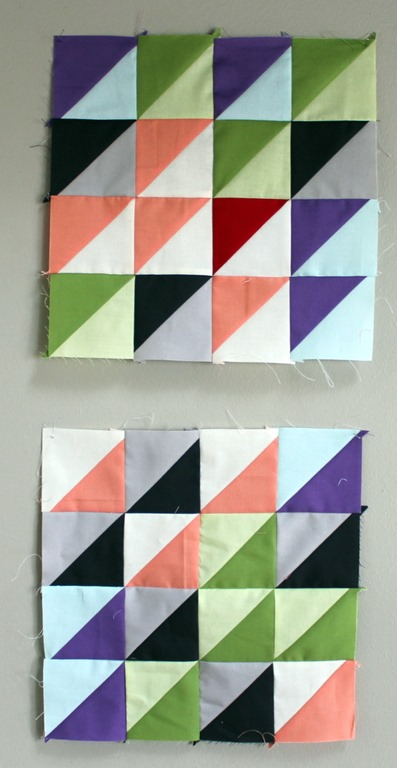 half square triangle blocks by kim lapacek