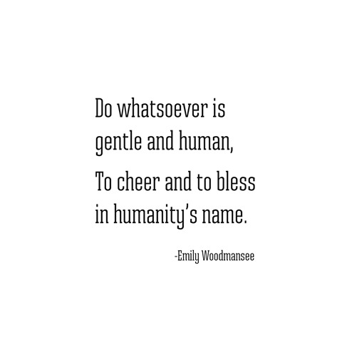 cheer and bless -- emily woodmansee