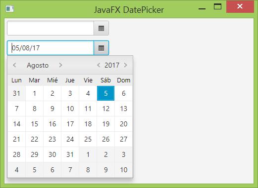 Formato de fecha en un DatePicker