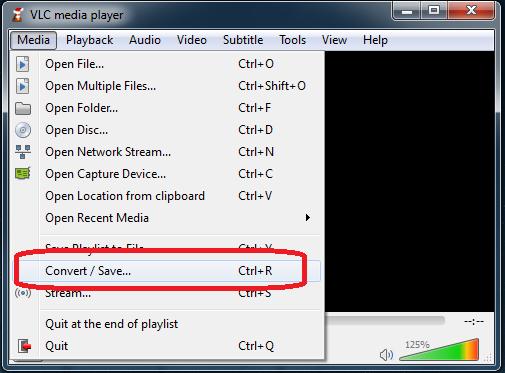 VLC Format Conversion
