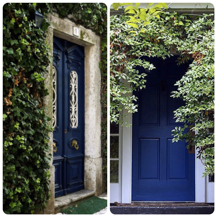 Home Decor Blue Painted Doors