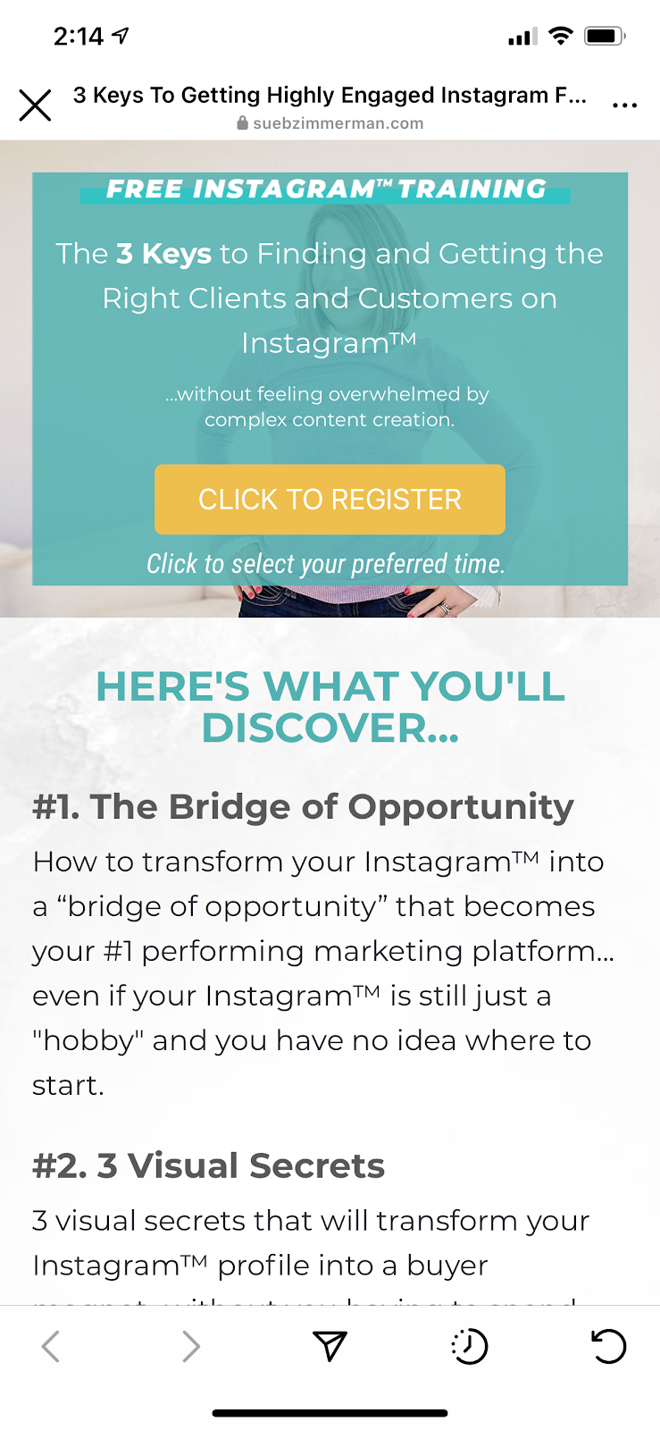 drive Instagram traffic to your website