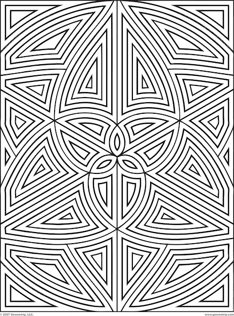 Difficult Geometric Design Coloring Pages  Rectangles Page  Of   Geometric Coloring Pagesfree Coloringadult