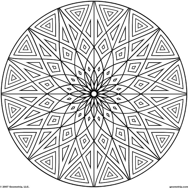Geometric Design Coloring Pages  Design Patterns