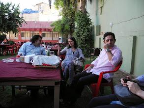 Photo: at the Hawler Branch of Kurdish Writers Union, Hawler, with dr Hashem Ahmadzadeh and the Kurdish poet - Bekas Hama Qadr
