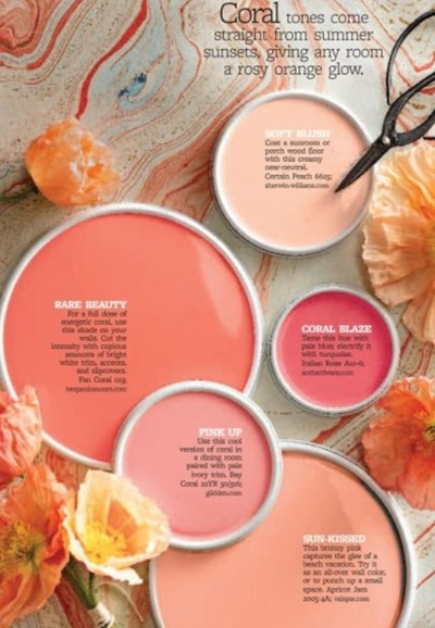 Coral paint color scheme