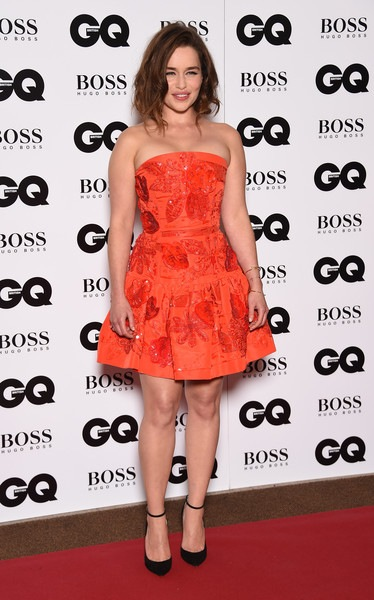 Emilia Clarke attends the GQ Men Of The Year Awards