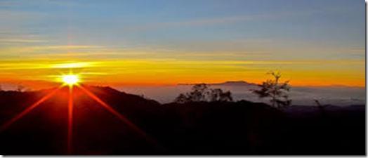Sunrise Bromo mountain