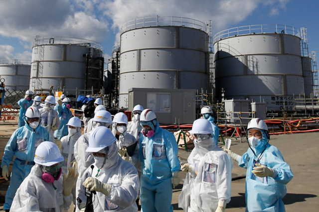 Storage tanks for radioactive water at the Fukushima Daiichi Nuclear Power Station in Japan. Photo: Toru Hanai / Reuters