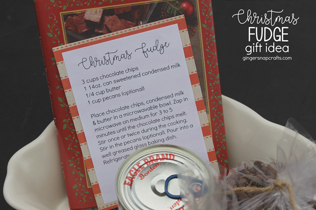 Christmas Fudge Gift Idea at GingerSnapCrafts.com #gift #giftideas #Christmas