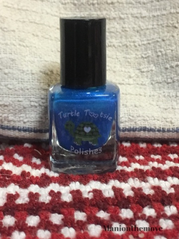 Blue Sparkles with Turtle Tootsie Polishes & Anchor & Heart Lacquer