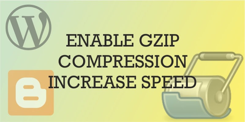 enable gzip compression on wordpress and blogger