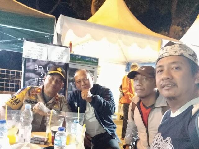 Sinergitas Kapolsek Tigaraksa Bersama Pers Dalam Pengamanan HUT Kab Tangerang