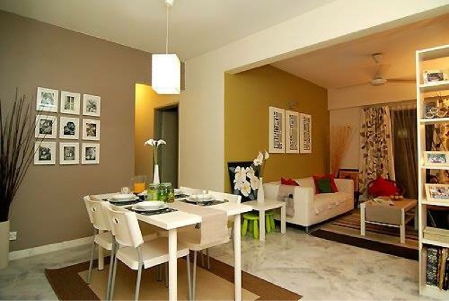 Idea Deko Ruang Tamu Dan Makan Untuk Apartment