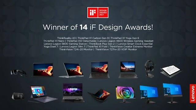 Lenovo raih penghargaan bergengsi IF Design Awards 2021