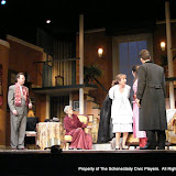 Richard Michael Roe, Joanne Westervelt, Benita Zahn, Stephanie G. Insogna and James Dick in THE ROYAL FAMILY (R) - December 2011.  Property of The Schenectady Civic Players Theater Archive.