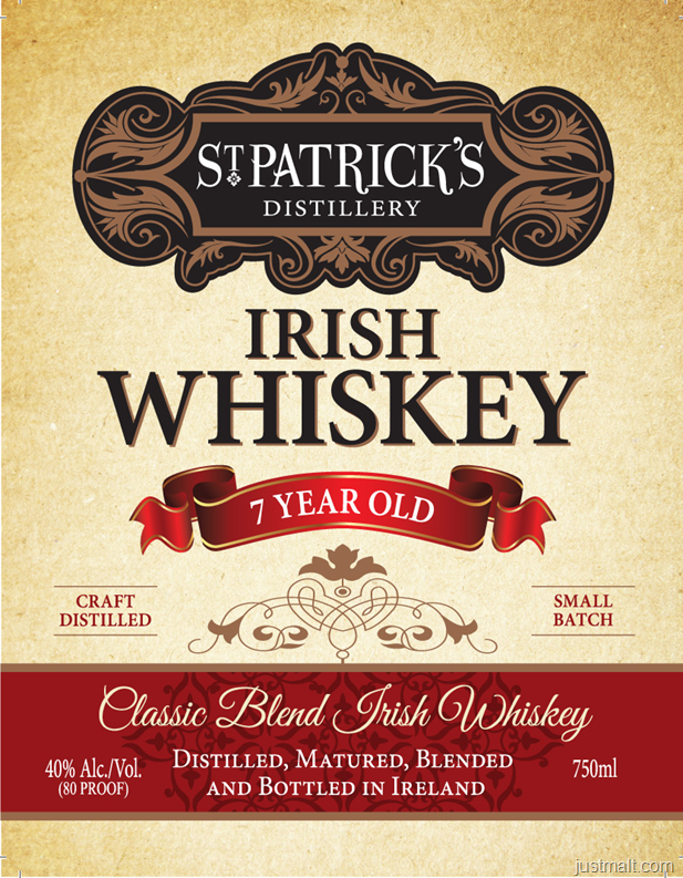 St. Patrick's Distillery 7-Year Irish Whiskey