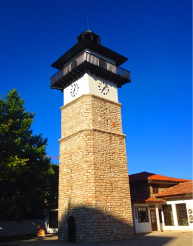 Photo of the old town Dobrich. The clock tower.Picture taken in Dobrich Bulgaria, June 2013.