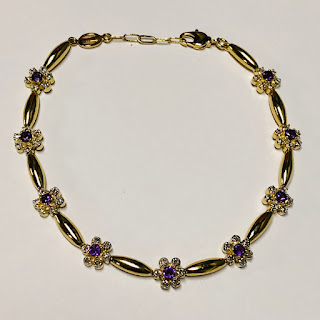 Diamond and Amethyst Vermeil Bracelet