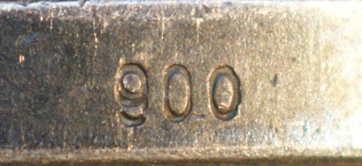 150c Medaille für treue Dienste in der Nationale Volksarmee für 10 Dienstjahre Punze (1) 900 www.ddrmedailles.nl