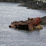 Restos de naufrágio, Passeio de barco no Estreito de Magallanes, Ushuaia, Argentina