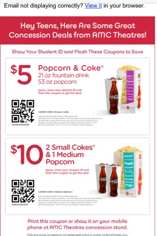 picture about Amc Printable Coupons titled Amc coupon codes - Oakland ice rink