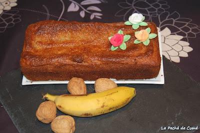 Plumcake de plátano y nueces
