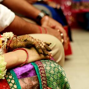 Wedding ceremony by Anurag Bhateja - Wedding Ceremony ( hands, bride hands )