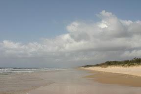 Along the beach of Fraser Island