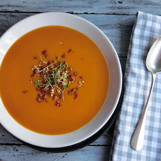 Butternut Squash Soup with Maple Roasted Buckwheat