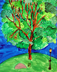 Plein Air Painting by Mia