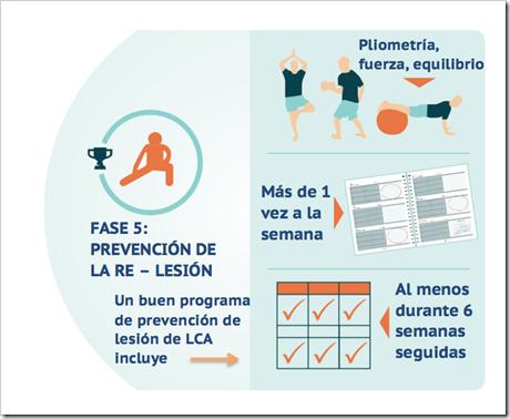 5 Rehabilitación del Ligamento Cruzado Anterior LCA en Pádel en cinco fases basado en objetivos.