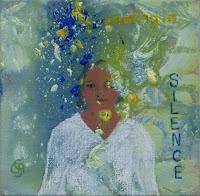 'coming in silence'- Frühling, Acryl und Ölpastell, 20x20