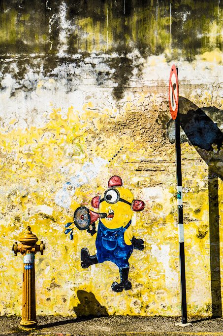 Penang George Town Street Art Minions2