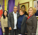 De izquierda a derecha: Ana Burgos, Freddy García, Alejandrina Germán y Elida Almonte.