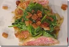 Triglie croccanti con verdure
