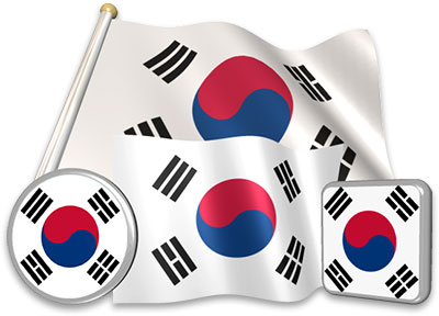 South Korean flag animated gif collection
