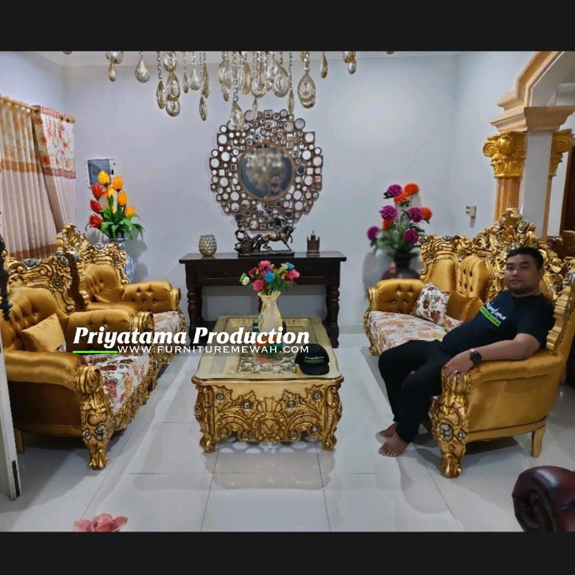 Kursi Tamu Seribu Bunga Ukir Luxury