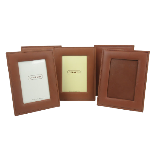 Coach Leather Brown Frame Set